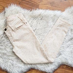 Current Elliott Cheetah Print Pink Skinny Jeans 27